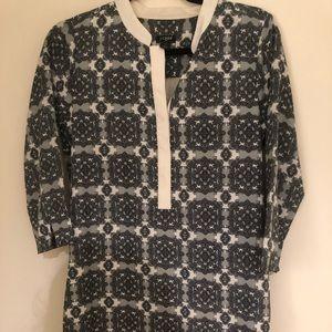 J. Crew Dresses - J Crew 3/4 Sleeve Silk print dress